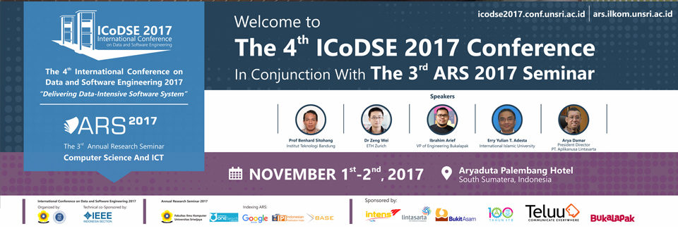 Conjunction Conference : The 4th ICoDSE & 3rd ARS 2017